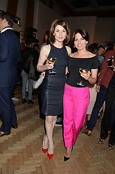 Left to right, JODIE WHITAKER and OPHELIA LOVIBOND at an exclusive showing of the Ralph Lauren Collection Spring 2014 Runway Collection held at the legendary Abbey Road Studios, Abbey Road, London NW8 on 21st May 2014.
