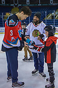 KELOWNA, CANADA - FEBRUARY 19:  Kelvin Hair #3 of the Kelowna Rockets at the CIBC Family Skate with the Kelowna Rockets on February 19, 2018 at Prospera Place in Kelowna, British Columbia, Canada.  (Photo By Cindy Rogers/Nyasa Photography,  *** Local Caption ***