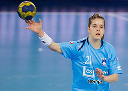 Alja Jankovic of Slovenia during handball match between Women National Teams of Slovenia and Czech Republic of 4th Round of EURO 2012 Qualifications, on March 25, 2012, in Arena Stozice, Ljubljana, Slovenia. (Photo by Vid Ponikvar / Sportida.com)