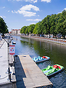 View of the Danes River that flows through Klaipeda, Lithuania