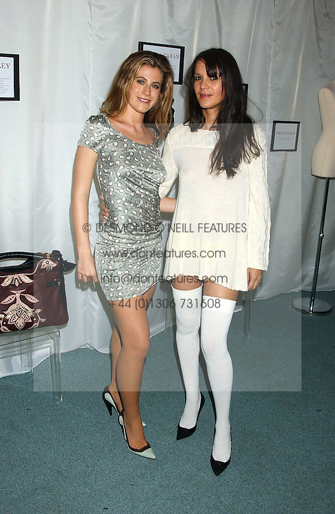 Left to right, FRANCESCA VERSACE and LISA MOORISH at Reach 4 Fashion 2005 in aid of the REACH Leukaemia Appeal hosted by designers Sadie Frost and Jemima French of fashion label FrostFrench held at 88 St.James' Street, London SW1 on 8th November 2005.<br /><br />NON EXCLUSIVE - WORLD RIGHTS