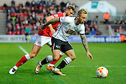 Derby County forward Johnny Russell during the Sky Bet Championship match between Bristol City and Derby County at Ashton Gate, Bristol, England on 19 April 2016. Photo by Graham Hunt.