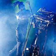 Combichrist performs at The Glasshouse in Pomona, California USA