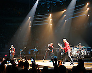 U2 performs before a sold out crowd at the Delta Center in Salt Lake City.