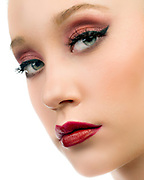 Beauty photography of model Sophie Grace Johnson for YME Cosmetics by Gerard Harrison, Image Theory Photoworks.