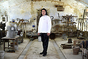 Hilton Little, Chef to the President of the South African Republic, poses for a portrait in the Cascina Colombara during the annual meeting of the Club des Chefs des Chefs in Livorno Ferraris, Vercelli, Italy, July 18, 2015.<br /> The Club des Chefs des Chefs, which is seen as the world's most exclusive gastronomic society, has extremely strict membership criteria: to be accepted into this highly elite club, you need to be the current personal chef of a head of state. If he or she does not have a personal chef, members can be the executive chef of the venue that hosts official State receptions. One of the society's primary purposes is to promote major culinary traditions and to protect the origins of each national cuisine. The Club des Chefs des Chefs also aims to develop friendship and cooperation between its members, who have similar responsibilities in their respective countries. <br /> The annual meeting of the Club has been hosted this year in the production site of the Italian rice company called Riso Acquerello. <br /> © Giorgio Perottino