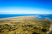 Nederland, Friesland, Terschelling, 28-02-2016; overzicht westelijk deel van Terschelling met in de voorgrond de slenken van de Boschplaat. Ameland aan de horizon<br /> Wadden island Terschelling from the West, Wadden sea. <br /> luchtfoto (toeslag op standard tarieven);<br /> aerial photo (additional fee required);<br /> copyright foto/photo Siebe Swart