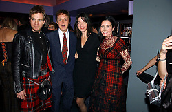 Left to right, EWAN McGREGOR, SIR PAUL McCARTNEY, MARY McCARTNEY and SHARLEEN SPITERI  at a Burns Night dinner in aid of CLIC Sargent and Children's Hospice Association Scotland held at St.Martin's Lane Hotel, St.Martin's Lane, London on 25th January 2007.<br /><br />NON EXCLUSIVE - WORLD RIGHTS