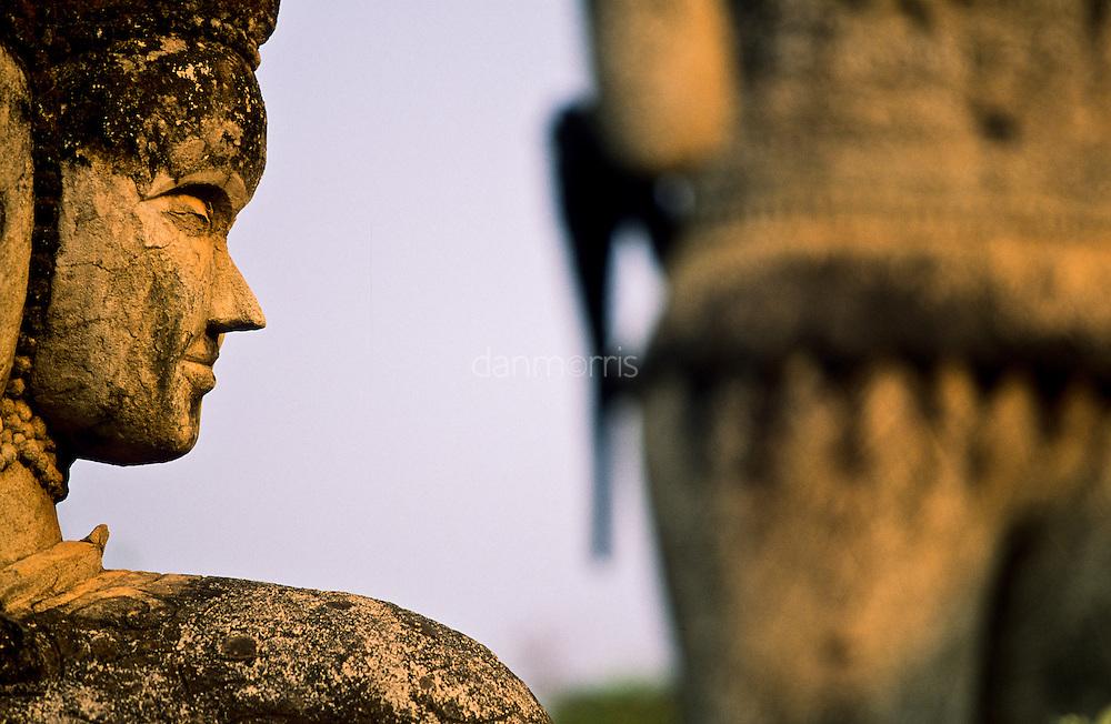 Buddhist Statue in Buddha Park, Vientiane, Laos