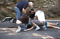 Sykkel<br /> Giro d Italia 2011<br /> Foto: imago/Digitalsport<br /> NORWAY ONLY<br /> <br /> 09.05.2011  <br /> Giro d Italia. Tredje etappe<br /> <br /> Den belgiske syklisten Wouter Weylandt omkom i et velt