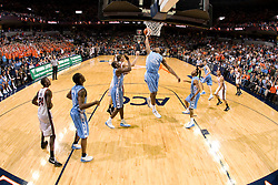 North Carolina forward Alex Stepheson (32) grabs a rebound against Virginia.  The Virginia Cavaliers men's basketball team fell to the #3 ranked North Carolina Tar Heels 75-74 at the John Paul Jones Arena in Charlottesville, VA on February 12, 2008.