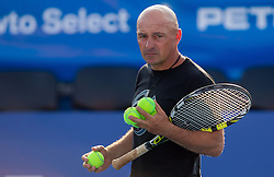 Coach Igor Roric during practice session 1 day before tennis tournament ATP Challenger Tilia Slovenia Open 2013 on July 1, 2013 in SRC Marina, Portoroz / Portorose, Slovenia. (Photo by Vid Ponikvar / Sportida.com)
