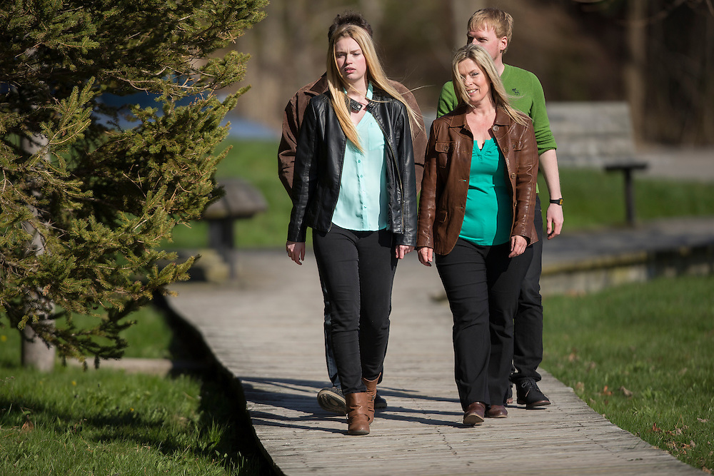 Photo of Rhonda Scholtz and family in Goderich, Ontario April, 23, 2016.<br /> <br /> Photos by Geoff Robins