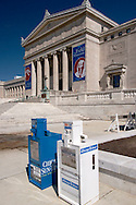 The Field Museum and Newspaper Racks, Chicago, Illinois