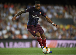 May 9, 2019 - Valencia, Spain - Lacazette of Asenal controls the ball during the UEFA Europa League Semi Final Second Leg match between Valencia and Arsenal at Estadio Mestalla on May 9, 2019 in Valencia, Spain. (Credit Image: © Jose Breton/NurPhoto via ZUMA Press)
