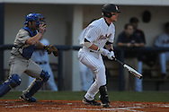 Ole Miss' Matt Snyder (33) drives in Ole Miss' Alex Yarbrough (2) in the first inning at Oxford University Stadium in Oxford, Miss. on Tuesday, February 22, 2011.