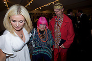KATHERINE JENKINS; ZANDRA RHODES; ANDREW LOGAN, The Presentation of the Montblanc de la Culture Arts Patronage Award to Anthony D'Offay. Tate Modern. 16 April 2009<br /> KATHERINE JENKINS; ZANDRA RHODES; ANDREW LOGAN, The Presentation of the Montblanc de la Culture Arts Patronage Award to Anthony D'Offay. Tate Modern. 16 April 2009 *** Local Caption *** -DO NOT ARCHIVE-© Copyright Photograph by Dafydd Jones. 248 Clapham Rd. London SW9 0PZ. Tel 0207 820 0771. www.dafjones.com.