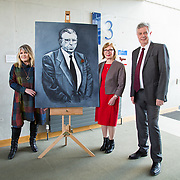 24.03.2017            <br /> Limerick Civic Trust, Marjorie Daly commissioned Jim Kemmy Portrait unveiling by Jan O'Sullivan TD at the Kemmy Business School, University of Limerick. <br /> <br /> Pictured at the event were, Marjorie Daly, Artist, Jan O'Sullivan, TD and Dr. Philip O'Regan, Dean of Kemmy Business School, UL. Picture: Alan Place