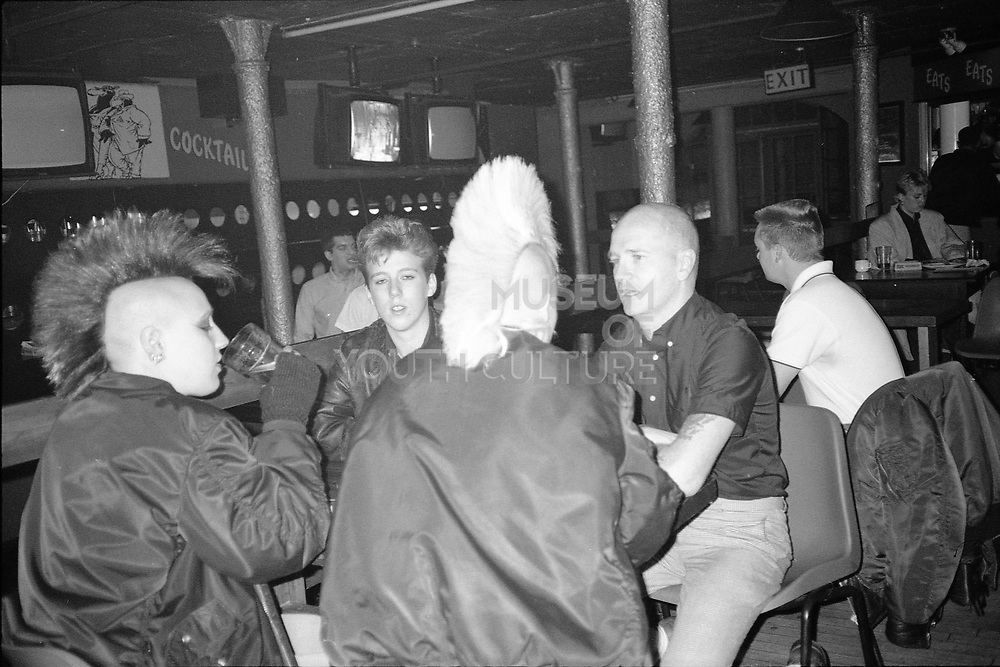 Punk Girls and Aiden in the Pub, 1980s.