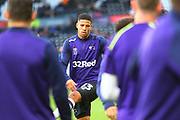 Derby County defender Curtis Davies (33) warms up during the EFL Sky Bet Championship match between Derby County and Aston Villa at the Pride Park, Derby, England on 10 November 2018.