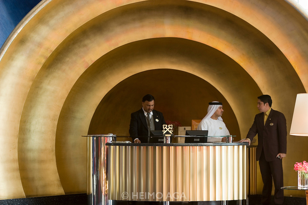 Jumeirah, Burj Al Arab, the World's most luxurious hotel. The Concierge Desk.