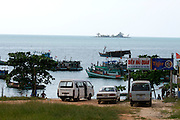 Phu Quoc Island. Boats at Bai Dai harbour.