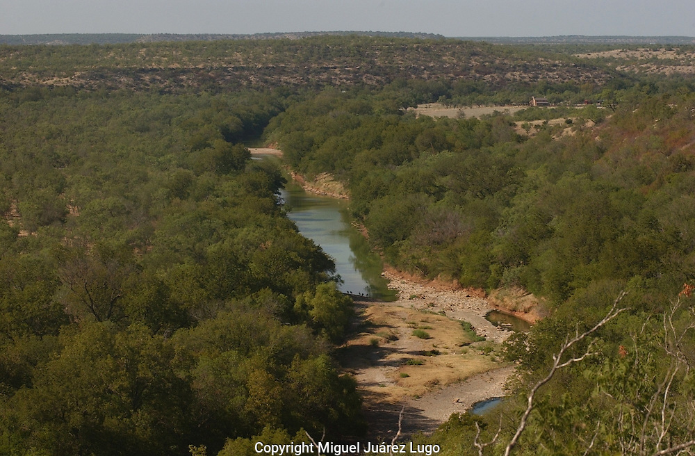 """The Clear Fork of the Brazos River, where Texas Gov. Rick Perry once leased a hunting camp known as """"Niggerhead.""""  . (PHOTO: MIGUEL JUAREZ LUGO)."""