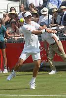Kei Nishikori. Kei Nishikori v Kevin Anderson,  Aspall Tennis Classic, Hurlingham Club, London 28th June 2018.