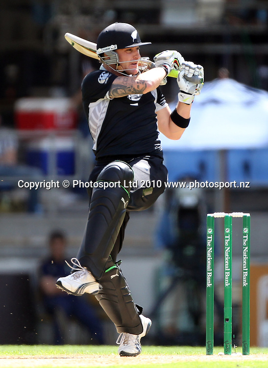 Brendon McCullum batting.<br />