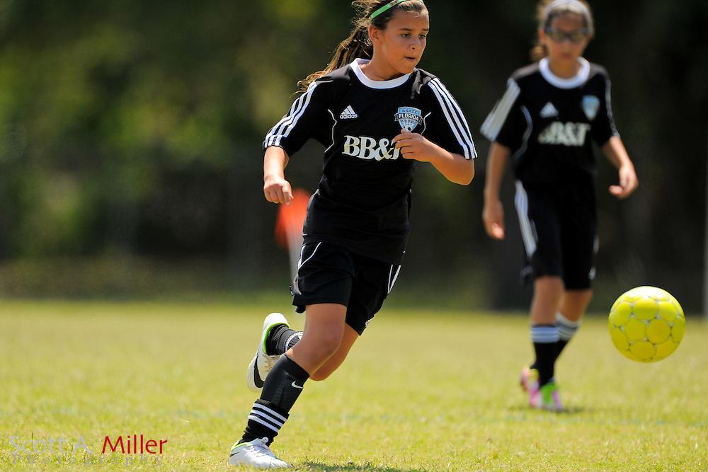 Florida Kraze/Krush U11 Krush Black vs Tampa Bay United U10 girls on April 26, 2014 in Tampa, Florida.<br /> <br /> &copy;2014 Scott A. Miller