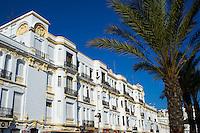 Maroc, Tanger, rue d Espagne, front de mer // Morocco, Tangier (Tanger), Espagne street on the sea side