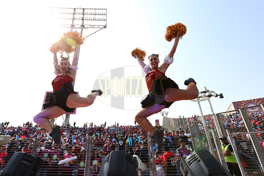 Royal Challengers Bangalore cheerleaders during match 34 of the Vivo 2017 Indian Premier League between the Rising Pune Supergiants and the Royal Challengers Bangalore   held at the MCA Pune International Cricket Stadium in Pune, India on the 29th April 2017<br /> <br /> Photo by Faheem Hussain - Sportzpics - IPL