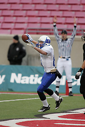 Breathitt County hosted Central in the Class 3A KHSAA Commonwealth Gridiron Bowl on Friday, Dec. 12, 2008, at Papa John's Cardinal Stadium in Louisville, Ky. Breathitt's Zack Epperson catches a 18 yard pass from Jade Haddix for Breathitt County's first score of the game. (photo by Jonathan Palmer)