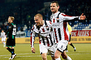 Onderwerp/Subject: Willem II - Eredivisie<br /> Reklame:  <br /> Club/Team/Country: <br /> Seizoen/Season: 2012/2013<br /> FOTO/PHOTO: Robbie HAEMHOUTS (R) of Willem II celebrating his goal with Kees VAN BUUREN (L) of Willem II ( 1 - 0 ). (Photo by PICS UNITED)<br /> <br /> Trefwoorden/Keywords: <br /> #02 #17 $94 ±1355238911262<br /> Photo- & Copyrights © PICS UNITED <br /> P.O. Box 7164 - 5605 BE  EINDHOVEN (THE NETHERLANDS) <br /> Phone +31 (0)40 296 28 00 <br /> Fax +31 (0) 40 248 47 43 <br /> http://www.pics-united.com <br /> e-mail : sales@pics-united.com (If you would like to raise any issues regarding any aspects of products / service of PICS UNITED) or <br /> e-mail : sales@pics-united.com   <br /> <br /> ATTENTIE: <br /> Publicatie ook bij aanbieding door derden is slechts toegestaan na verkregen toestemming van Pics United. <br /> VOLLEDIGE NAAMSVERMELDING IS VERPLICHT! (© PICS UNITED/Naam Fotograaf, zie veld 4 van de bestandsinfo 'credits') <br /> ATTENTION:  <br /> © Pics United. Reproduction/publication of this photo by any parties is only permitted after authorisation is sought and obtained from  PICS UNITED- THE NETHERLANDS