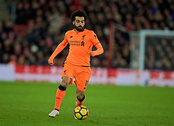 SOUTHAMPTON, ENGLAND - Sunday, February 11, 2018: Liverpool's Mohamed Salah during the FA Premier League match between Southampton FC and Liverpool FC at St. Mary's Stadium. (Pic by David Rawcliffe/Propaganda)