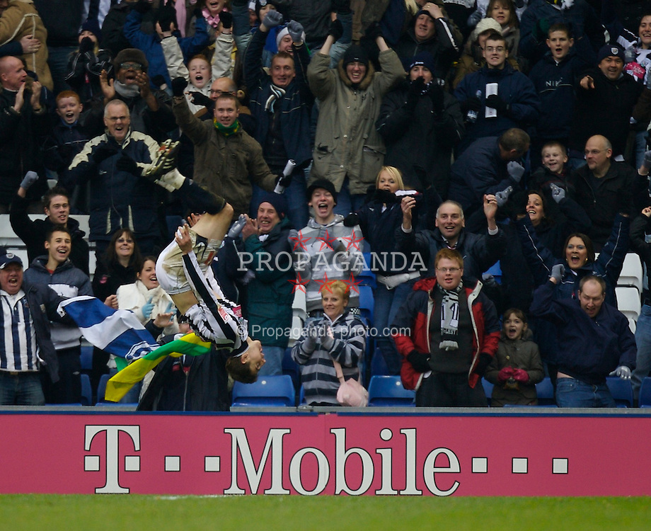 WEST BROMWICH, ENGLAND - Saturday, December 15, 2007: West Bromwich Albion's Zoltan Gera celebrates his second goal, WBA's third, against Charlton Athletic during the League Championship match at the Hawthorns. (Photo by David Rawcliffe/Propaganda)