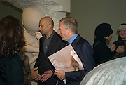 MARC QUINN WITH LAWRENCE  GRAFF, 'Evolution', an exhibition of work by Marc Quinn. White Cube. Masoin's Yard. London. 24 January 2008. -DO NOT ARCHIVE-© Copyright Photograph by Dafydd Jones. 248 Clapham Rd. London SW9 0PZ. Tel 0207 820 0771. www.dafjones.com.