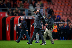 BOURNEMOUTH, ENGLAND - Saturday, December 8, 2018: Liverpool's manager Jürgen Klopp celebrates after the 4-0 victory over AFC Bournemouth during the FA Premier League match between AFC Bournemouth and Liverpool FC at the Vitality Stadium. Liverpool won 4-0. (Pic by David Rawcliffe/Propaganda)