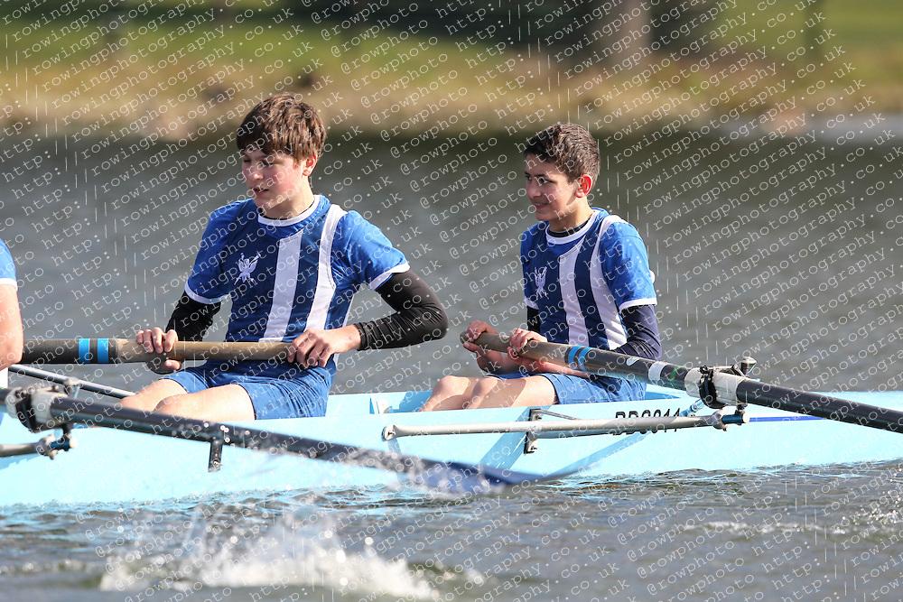 2012.02.25 Reading University Head 2012. The River Thames. Division 1. Bedford School Boat Club B J15A 8+