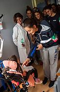 Chiara Tabani<br /> Visita Sette Rosa Ospedale Policlinico Universitario Agostino Gemelli<br /> Photo Pasquale Mesiano/ Deepbluemedia /Insidefoto