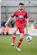 Shaun Brisley (Carlisle United) during the EFL Sky Bet League 2 match between Hartlepool United and Carlisle United at Victoria Park, Hartlepool, England on 14 April 2017. Photo by Mark P Doherty.