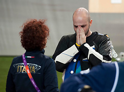 Men's  10m Air Rifle Final .Niccolo Campriani, Silver Medal....at London 2012 Olympics, Monday, 30th July 2012.  Photo by: i-Images