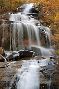 Waterfall, Aspen, Aspen tree, Aspen trees, Lone Pine Creek, Creek, Mt. Whitney Portal, Mount Whitney Portal, Inyo National Forest, California