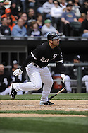 CHICAGO - APRIL 17:  Carlos Quentin #20 of the Chicago White Sox bats against the Los Angeles Angels of Anaheim on April 17, 2011 at U.S. Cellular Field in Chicago, Illinois.  The Angels defeated the White Sox 4-2.  (Photo by Ron Vesely)  Subject:  Carlos Quentin