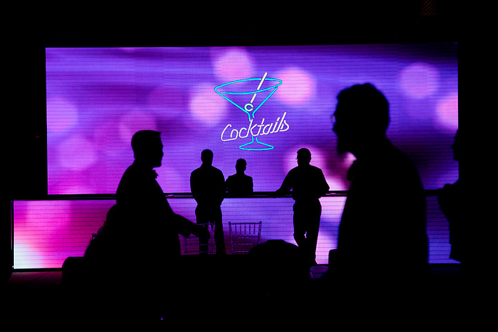 Guests are silhouetted during Pavilion XXIX, the Tampa Museum of Arts fundraiser gala. The event proceeds are used to further the museums exhibition and education programs.