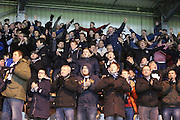 Dundee fans applaud their team at the end -  St Mirren v Dundee, SPFL Premiership at St Mirren Park <br /> <br /> <br />  - &copy; David Young - www.davidyoungphoto.co.uk - email: davidyoungphoto@gmail.com