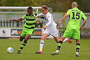 Forest Green Rovers defender Dale Bennett (6) clears the ball during the Vanarama National League match between Forest Green Rovers and Dagenham and Redbridge at the New Lawn, Forest Green, United Kingdom on 29 October 2016. Photo by Alan Franklin.