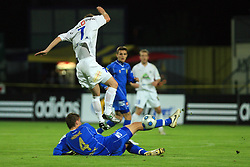 Dario Biscan and Jovan Vidovic at 30th Round of Slovenian First League football match between NK Domzale and NK MIK CM Celje in Sports park Domzale, on April 25, 2009, in Domzale, Slovenia. Celje won 3:0. (Photo by Vid Ponikvar / Sportida)