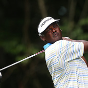 Vijay Singh, Fiji, in action during the first round of the Travelers Championship at the TPC River Highlands, Cromwell, Connecticut, USA. 19th June 2014. Photo Tim Clayton