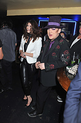 GEMMA ARTERTON and BOY GEORGE at the Hoping Variety Show - A benefit evening for Palestinian Refugee Children held at The Cafe de Paris, Coventry Street, London on 21st November 2011.